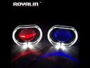 ROYALIN Estilo Do Carro De Metal Bi Xenon Lente Do Projetor H1 3.0 polegada Lente do farol Para BMW Angel Eyes Demônio Olhos Qua