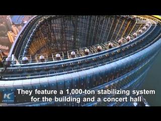 Шанхайская башня -- высочайшее в Китае и второе по высоте сооружение в мире -- открывает свои верхние этажи для посещения