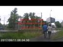 Пьяный ползет через дорогу или Алкаш VS Рекламный банер