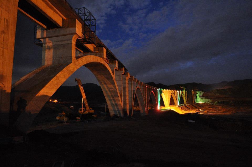 Шахродский железнодорожный мост в