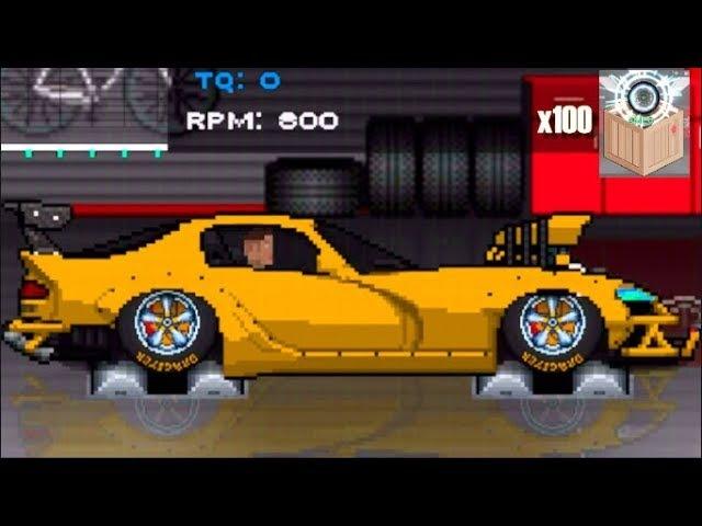2500hp Dodge Viper UPDATE Pixel Car Racer-100x Crate Opening