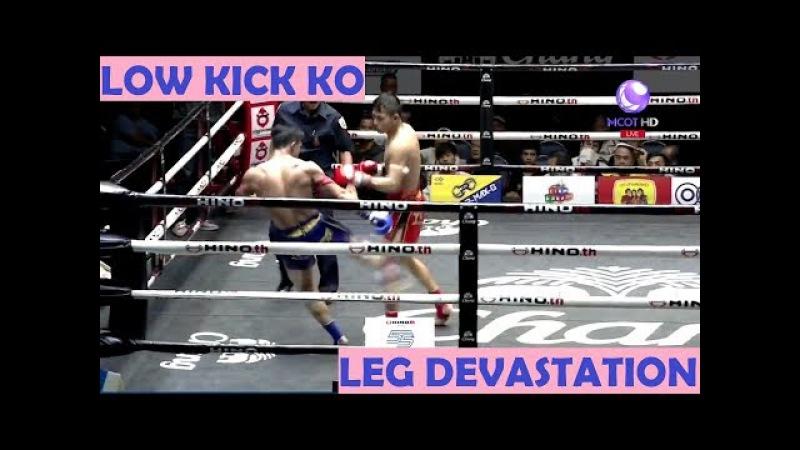 Low Kick devastation | Young superstar Manachai destroys opponents legs | 720p