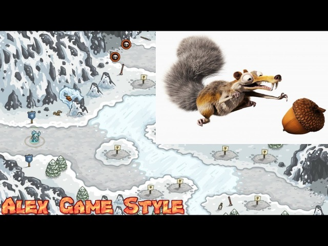 Kingdom Rush HD || Achievement Scrat's Meal || Find the Elusive Acorn!