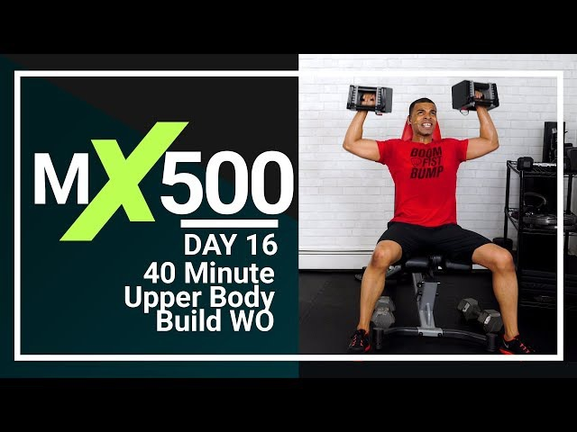 40 Minute Home Arm Workout - Upper Body Strength for Arms Chest, Back, Biceps Triceps MX500 16