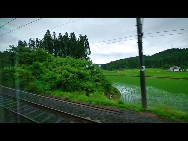 Из окна поезда. Япония. Akita - Tokyo. (полная версия)