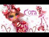 Doll Repaint CORA CANDY CANE Christmas Holiday Doll Ever After High Ooak