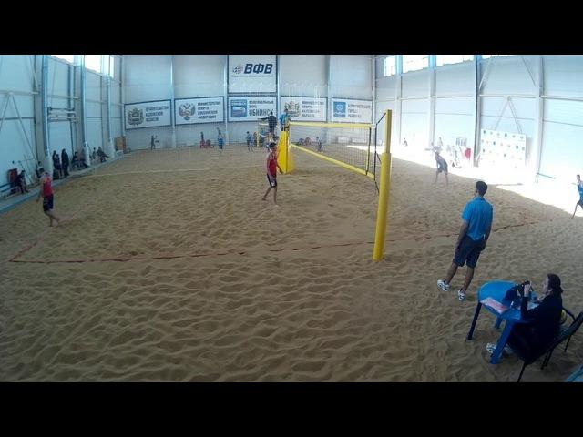 Beach volley Cup U20 Russia 2018 M28 Gorbenko-Ivanov and Shekunov-Veretyuk