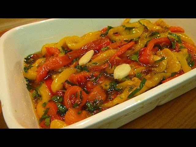 Салат из Перца Запеченного Италия Peperoni Arrostiti alla Grilia