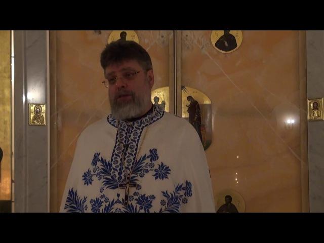 Слово перед исповедью отца Григория Григорьева 19 января 2018 г.