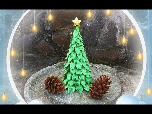 ABC TV | How To Make 3D Christmas Tree From Crepe Paper 1 - Craft Tutorial