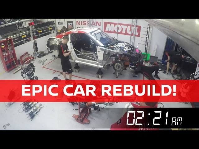 Rebuilding the GT-R NISMO GT3 in just 12 hours! Spa24h
