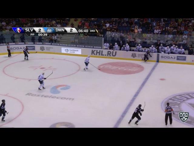 Моменты из матчей КХЛ сезона 16/17 • Гол. 3:2. Ржепик Михал (Слован) в дальний сходу 30.08
