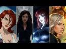 Эволюция Черной Вдовы в мультфильмах и кино Evolution of Black Widow in movies and cartoons
