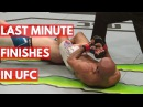 Last Minute Finishes in UFC - TOP 5 last minute finishes in ufc - top 5