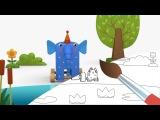 ДЕРЕВЯШКИ - Лужа - Мультик Раскраска с Деревяшками - Учим Цвета с малышами Музыкальный Мультик