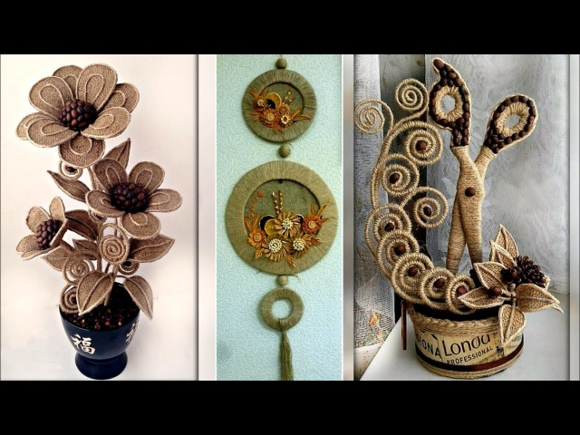 Jute Craft Decoration Design Collection || DIY Room Decor Idea 2018 Images / Photo