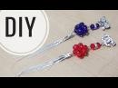 DIY Cara membuat bros dagu kristal juntai dengan rantai snake Tutorial brooch handmade