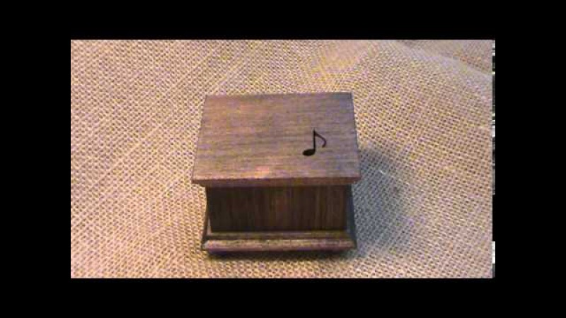 Grandfather's clock music box