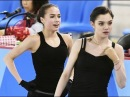 Олимпиада 2018 Евгения Медведева пародирует Алину Загитову