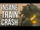 INSANE TRAIN CRASH - Call of Duty WW2