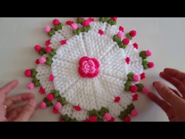 Çiçekli İki Kat Lif yapımı