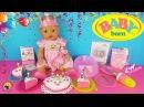 Кукла БЕБИ БОН - ВЕСЕЛЫЙ ДЕНЬ РОЖДЕНИЯ! Играем как МАМА Распаковка и обзор малышки BABY BORN