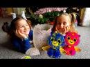 Мои подарки под елкой Хетчималс Двойняшки!❤ Плей До Фигурки оживают в планшете! ...