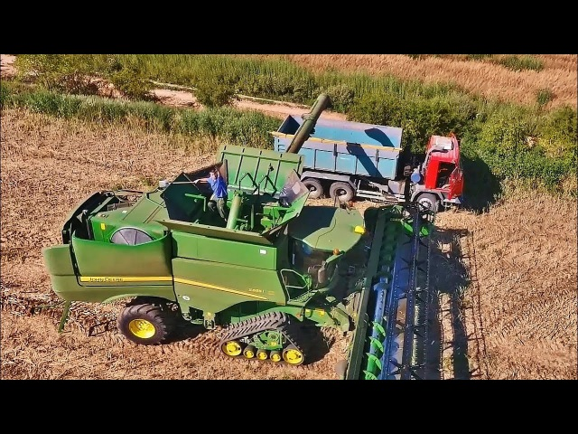 Rape Harvest? John Deere S685i John Deere 8370R Hovorany CZ