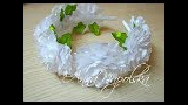Святковий обруч канзаши. Нарядный ободок своими руками. Headband kanzahi