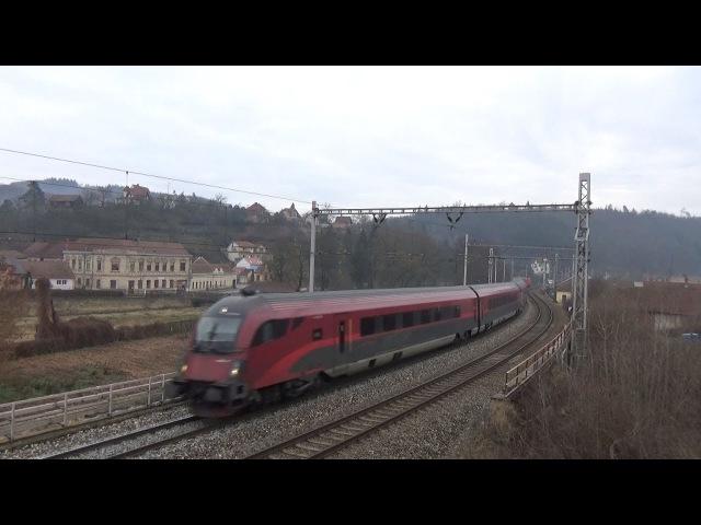 Vlaky Bílovice nad Svitavou - u trati 5.1.2018