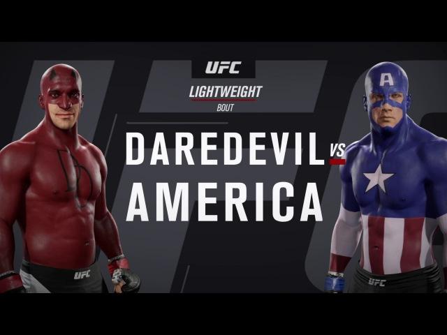 Сорвиголова и Капитан Америка (EA Sports UFC 2)