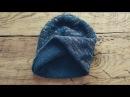 Двухслойная шапка спицами. Базовая модель. МК.