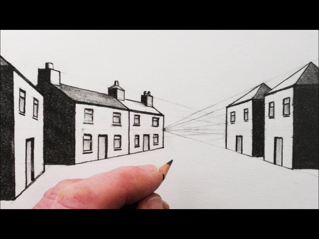 How to Draw a House in 1-Point Perspective: Narrated Pencil Drawing