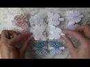 Бабочки из лент и регилина. Мастер-класс / DIY Hair clips butterfly. Master class