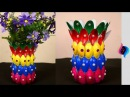 DIY - Flower vase of recycled plastic spoons - Easy crafts made with recycled materials -