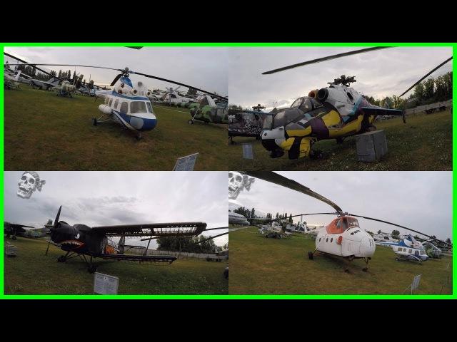 Необычные выставочные експонаты в музее авиации, Киев
