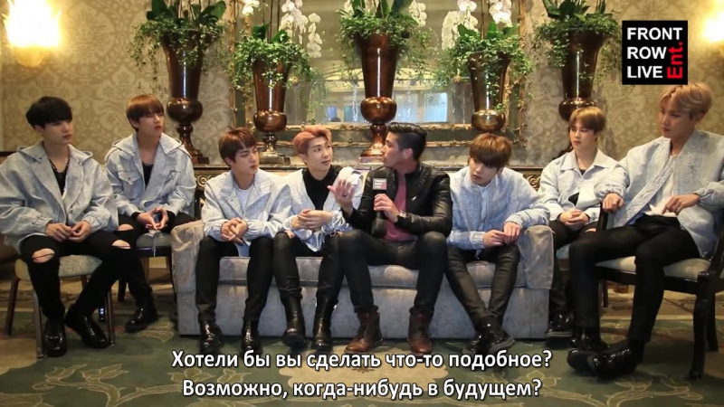 [RUS SUB][03.04.17] BTS and RobertHerrera3 talk about writing process, choreography, Wale collaboration @ Front Row Ent.
