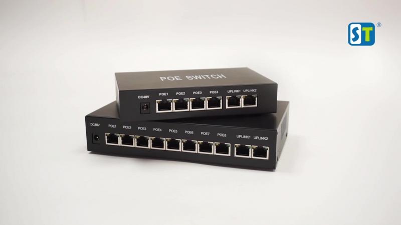 POE коммутатор Switch для видеонаблюдения