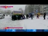 Толкавшие автобус саратовцы попали на Первый канал