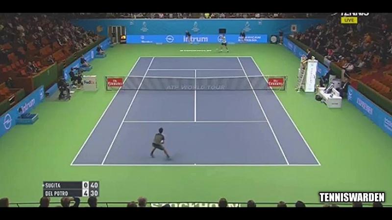 Дель Потро - Сугита/del Potro - Sugita. Обзор матча.Теннис ATP. 20.10.2017