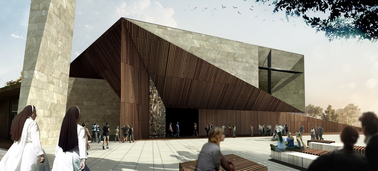 Save Studio Kuadra's Iconographic Design Selected as Winner of Cinisi Church Competition