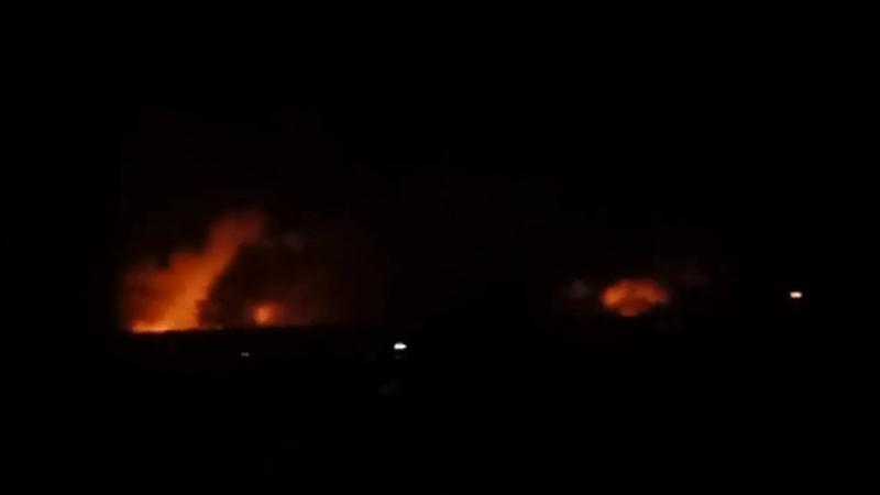 Детонирует крупнейший склад боеприпасов в Украине @ArsenShyt