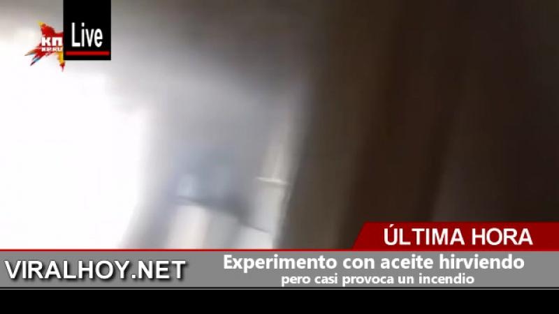 Experimento con aceite hirviendo pero casi provoca un incendio