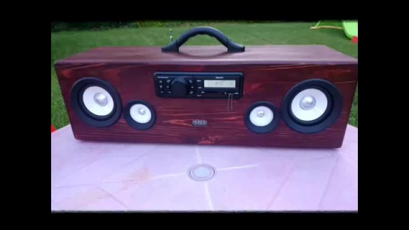 Самодельная мини аудиосистема из автомагнитолы. Boombox Homemade mini audio syst