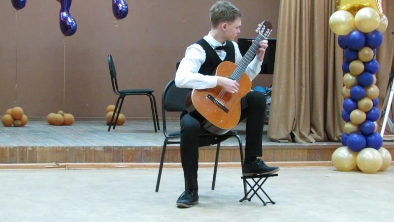 Прелюдия №1 Эйтор Вилла-Лобос. Мое выступление на конкурсе в г.Новосибирск.