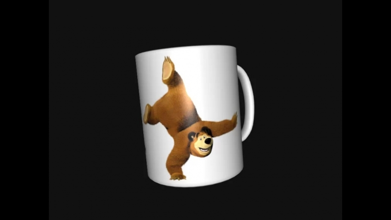 Бокал мультгероями из мультфильма Мадагаскар и Маша и Медведь