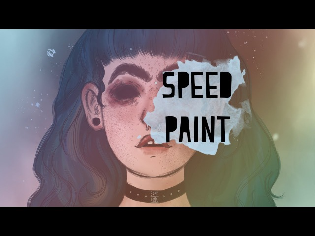 CatCore: Greenblue hair girl - speedpaint
