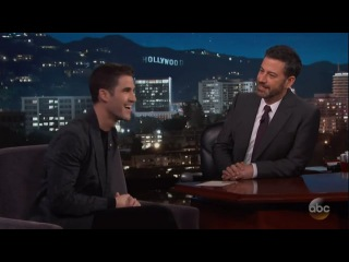 Darren Criss on Kimmel - January 2018