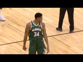 Giannis Antetokounmpo Beats The Buzzer   Bucks vs Bulls   October 6, 2017   2017 NBA Preseason
