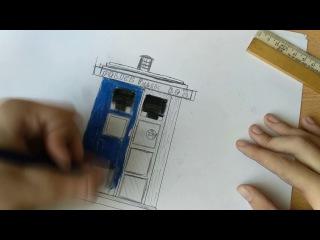 Рисунок карандашом - Доктор кто - Тардис